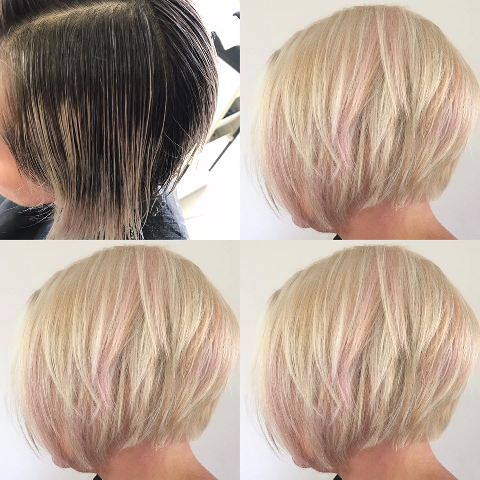 Relooking blond et mèches