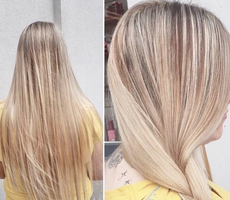 blond, strong hair