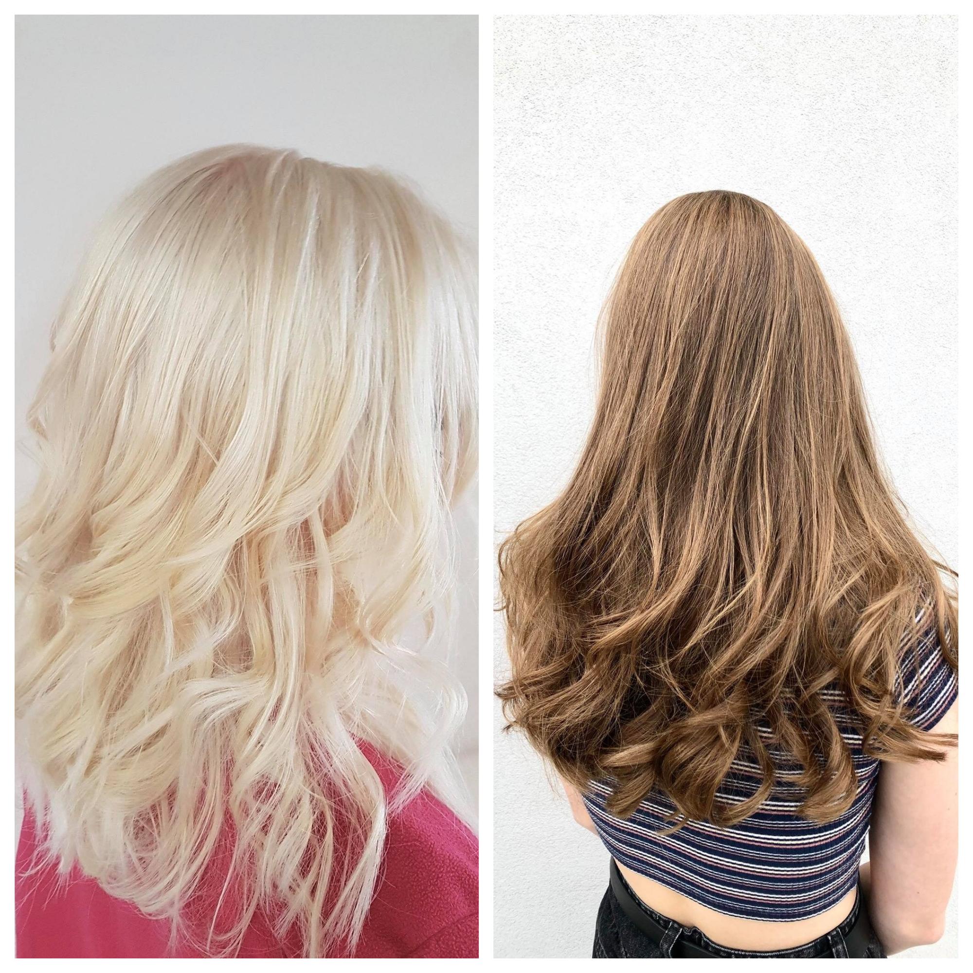 blonde et brune