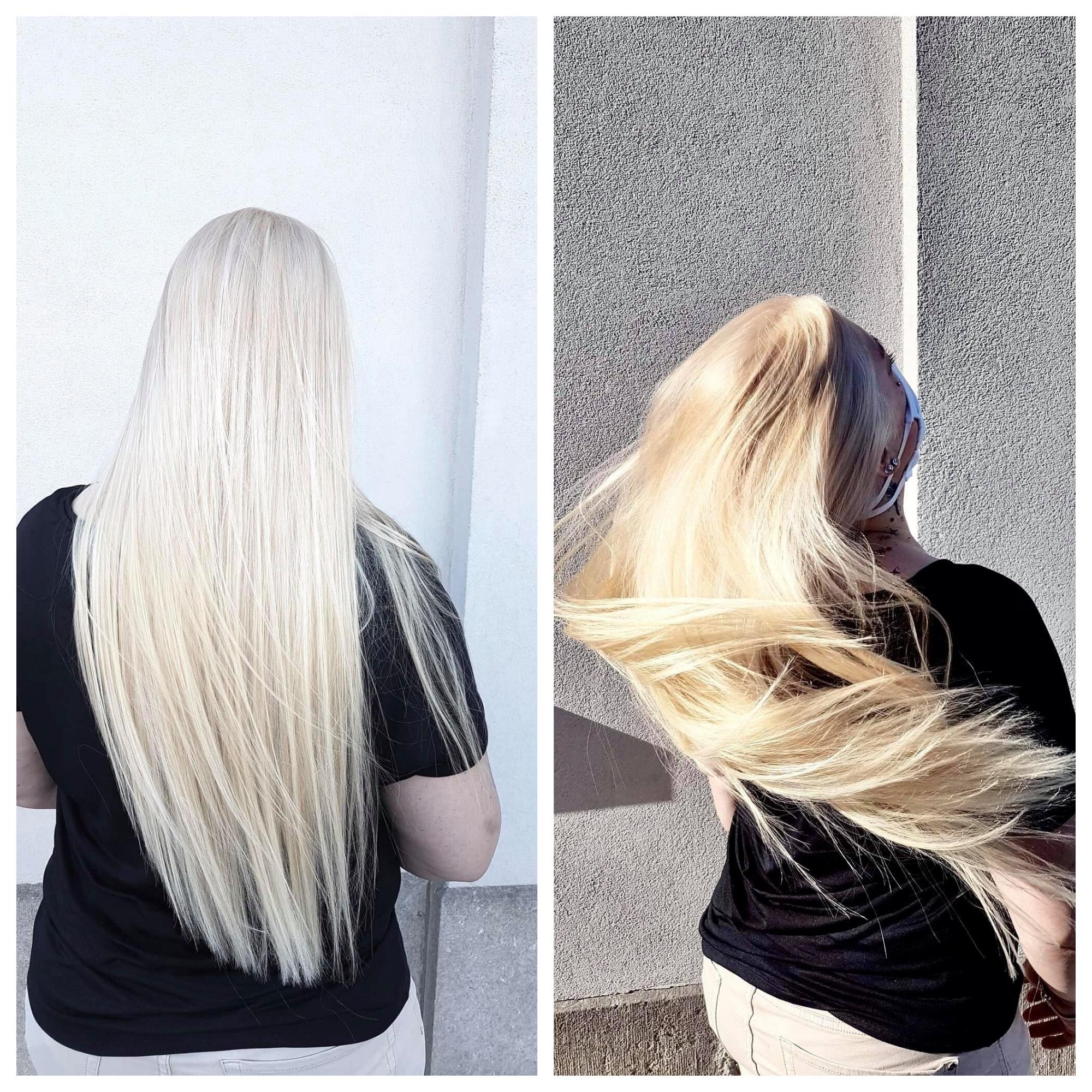 long hair platine blond